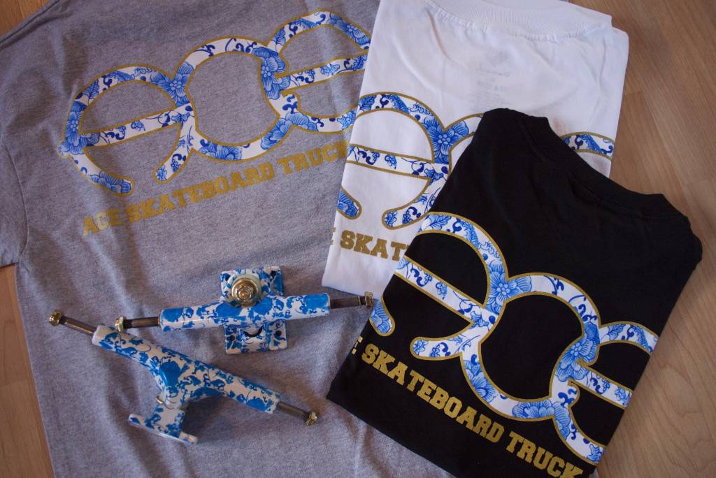 Ace Skateboard Truck Manufacturing APB x ACE Fine China Tee