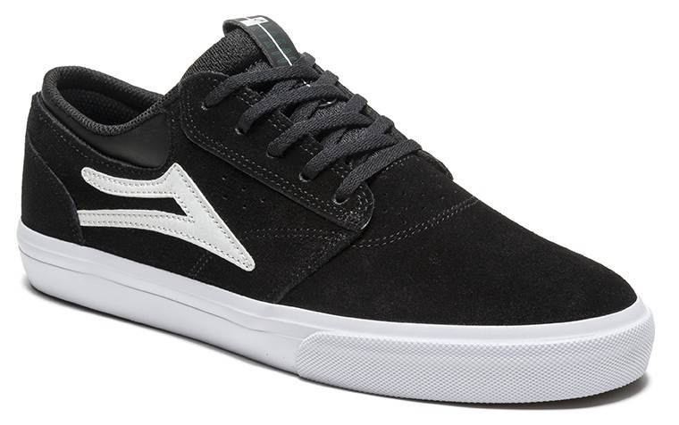 Lakai Griffin Black/White Suede