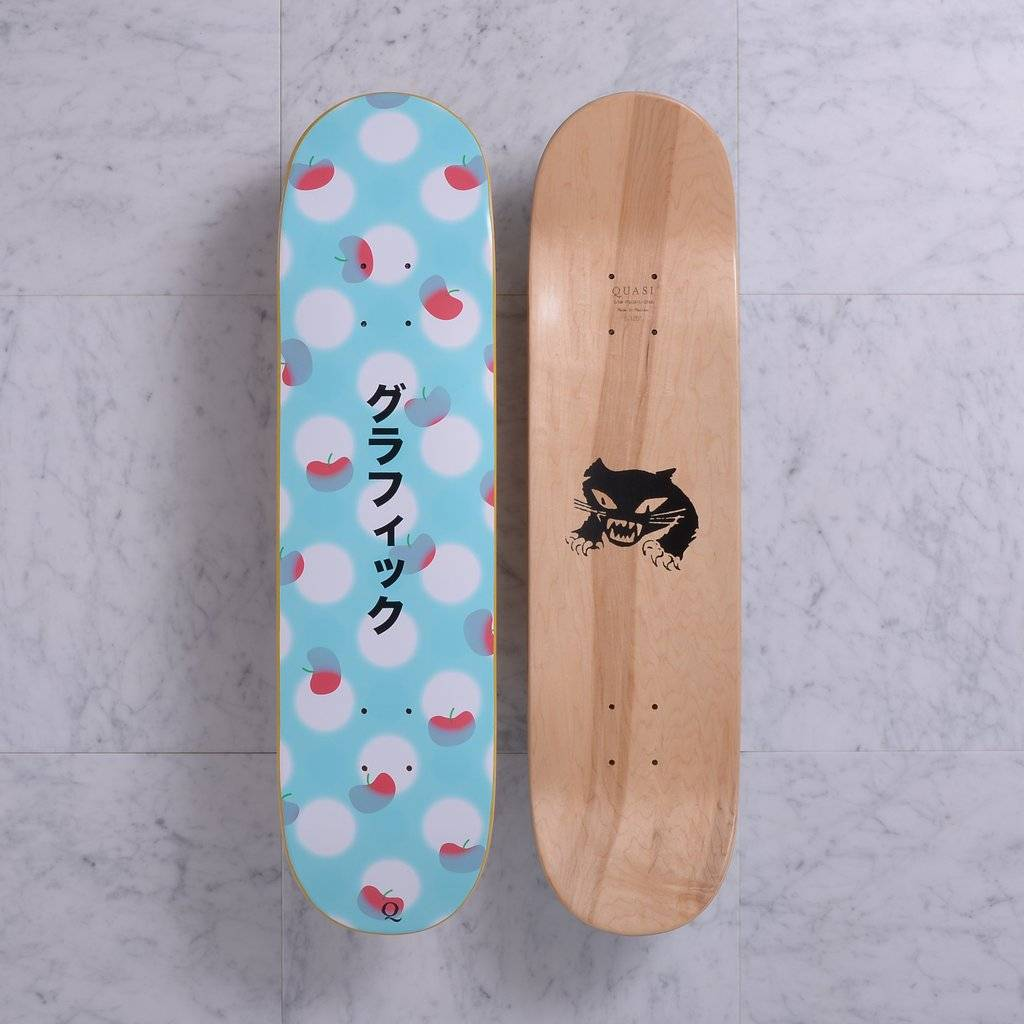 Quasi Skateboards Graphic (teal) 8.125