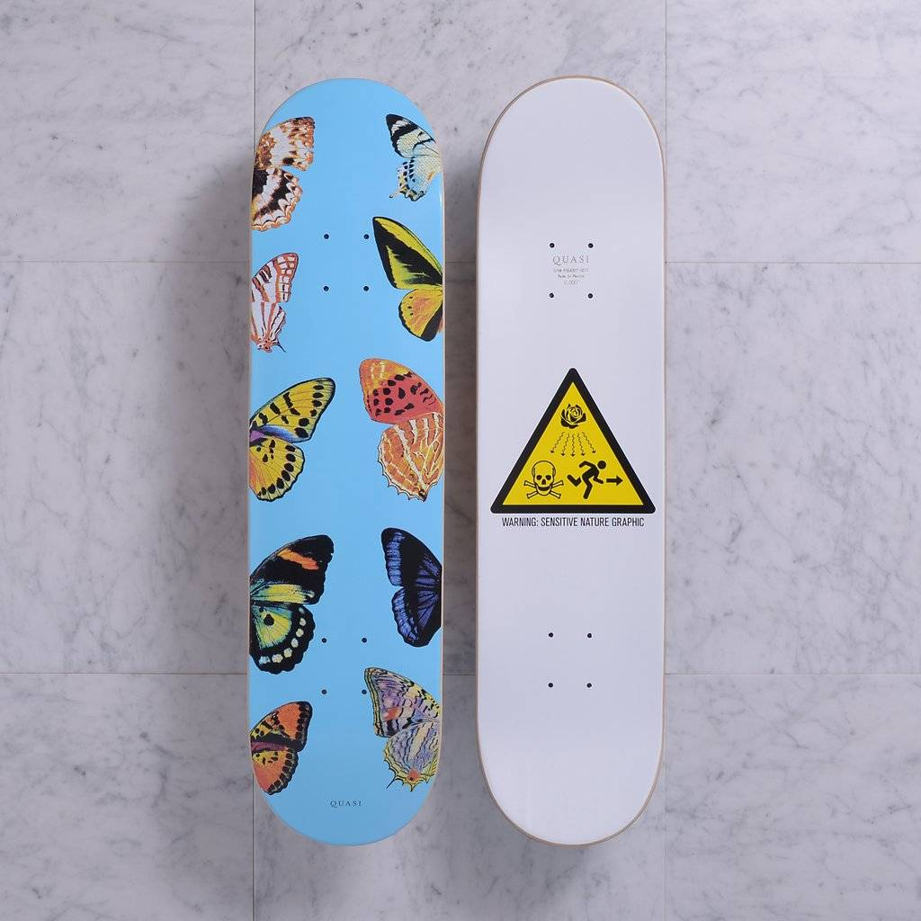 Quasi Skateboards Butterfly (blue) 8.0