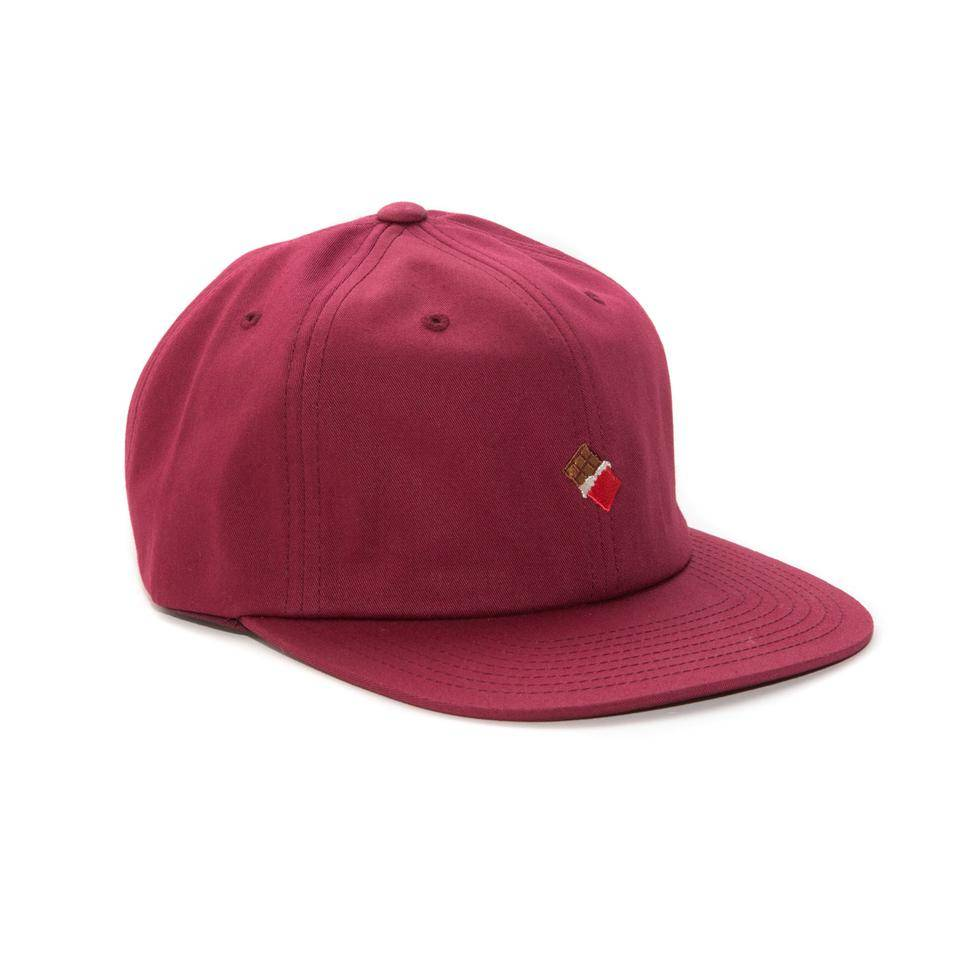 Chocolate Skateboards Chocolate Emoji Hat Burgandy