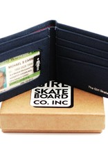 Girl Skateboard Company Micro OG Canvas Wallet Navy