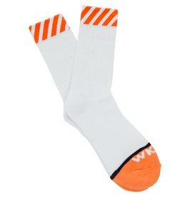 WKND Caution Sock Orange/White