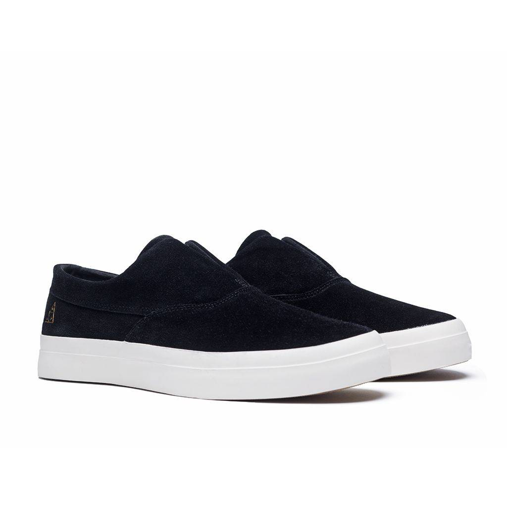 HUF Dylan Slip On Black/White Suede