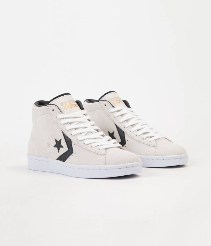 Converse USA Inc. Pro Leather Mid White/Black/Gold