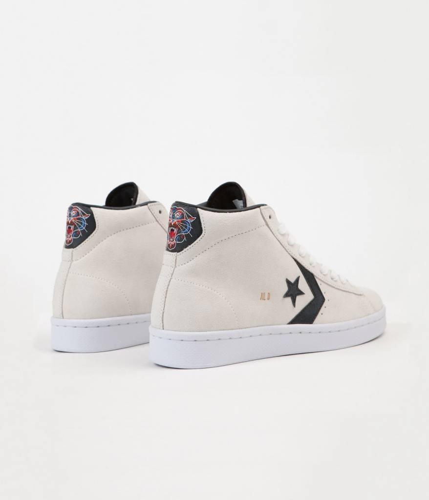 Converse USA Inc. Pro Leather Mid White/Black/Gold