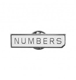 Numbers Edition Miltered Logo Enamel Pin