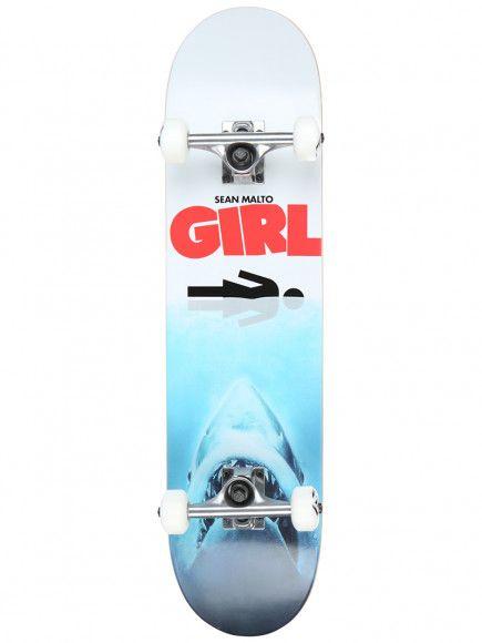 """Girl Skateboard Company Malto Shark Attack Complete 7.625"""""""