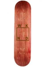 "WKND Gold Logo Maroon 8.0"""