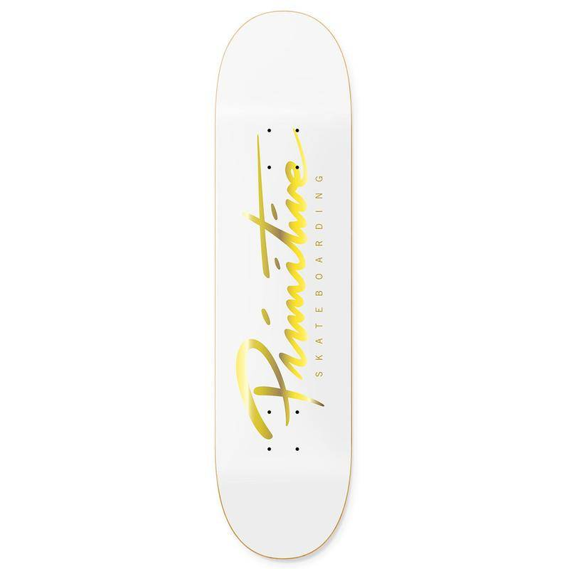 Primitive Nuevo White/Gold Team 8.5""