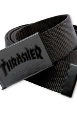 Thrasher Mag. Flame Web Belt Blk/Blk