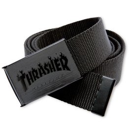 Thrasher Mag. Flame Web Belt Blk/Blk