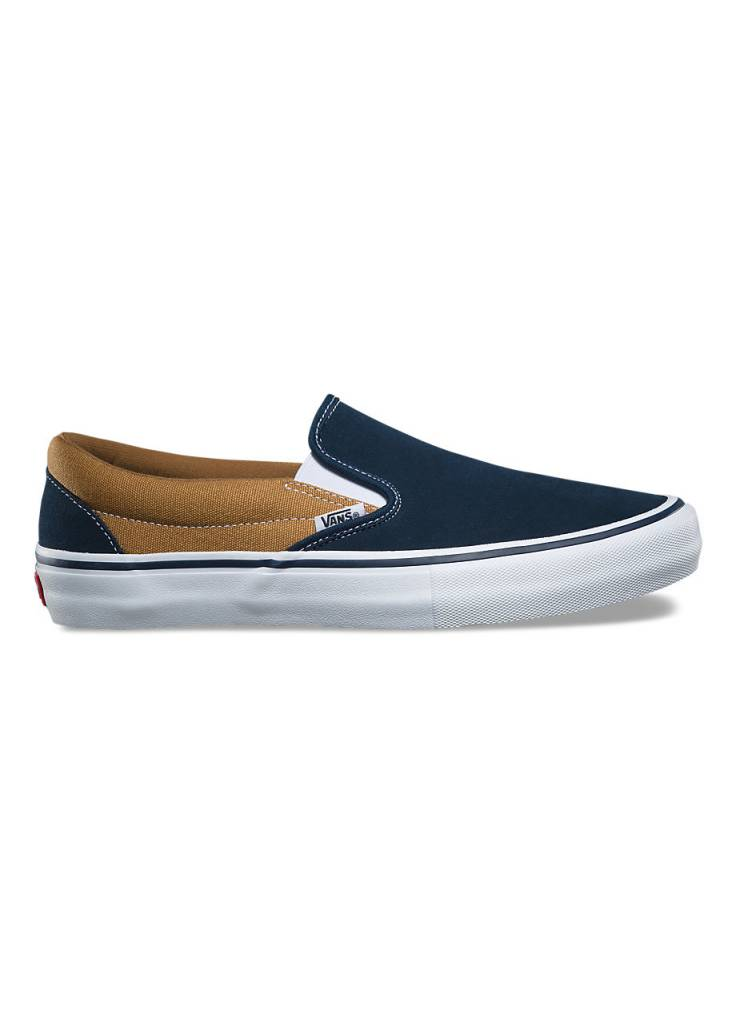 vans shoes slip on pro dress blue gold apb skateshop llc
