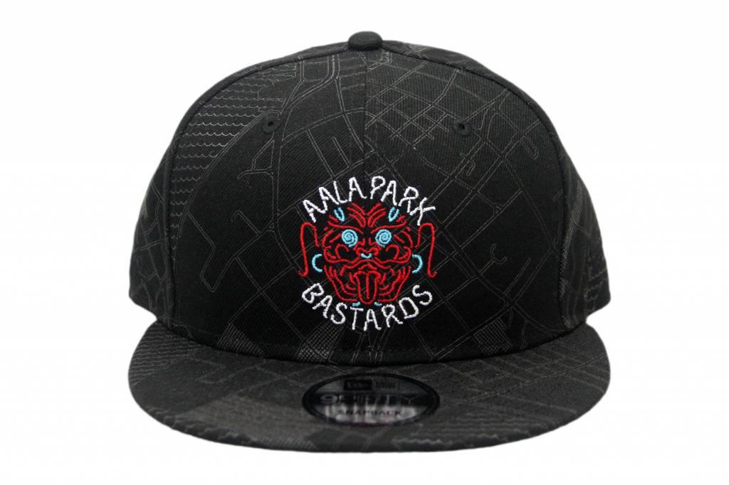 APB Skateshop APB x Fitted Bastard Snapback Black