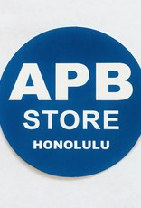APB Skateshop APB Store Sticker