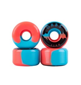 Welcome Skateboards Orbs Specters Blue/Coral 52mm