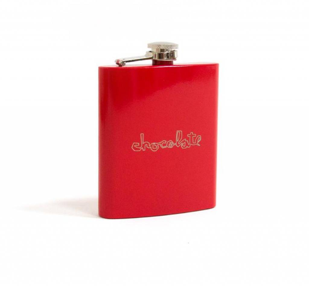 Chocolate Skateboards Chocolate Red Square Flask