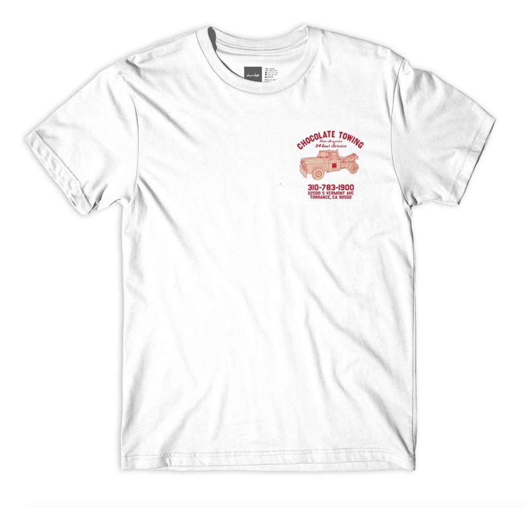 Chocolate Skateboards Chocolate Towing Tee White
