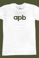 APB Skateshop APB Logo White w/Olive