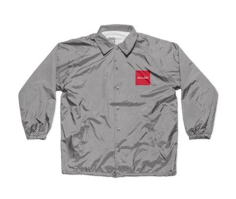 Chocolate Skateboards Red Square Coaches Jacket Grey