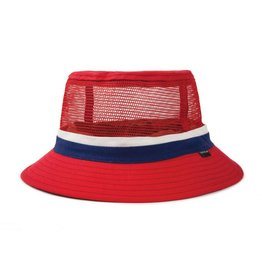 Brixton Hardy Bucket Hat Red/Navy