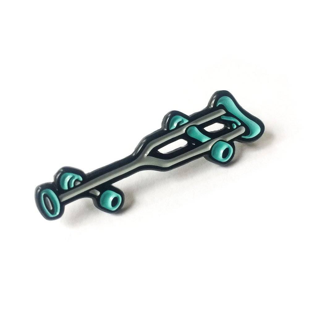 Black Label Crutch Enamel Pin