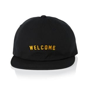 Welcome Skateboards Academic Unstructured Snapback Black/Yellow