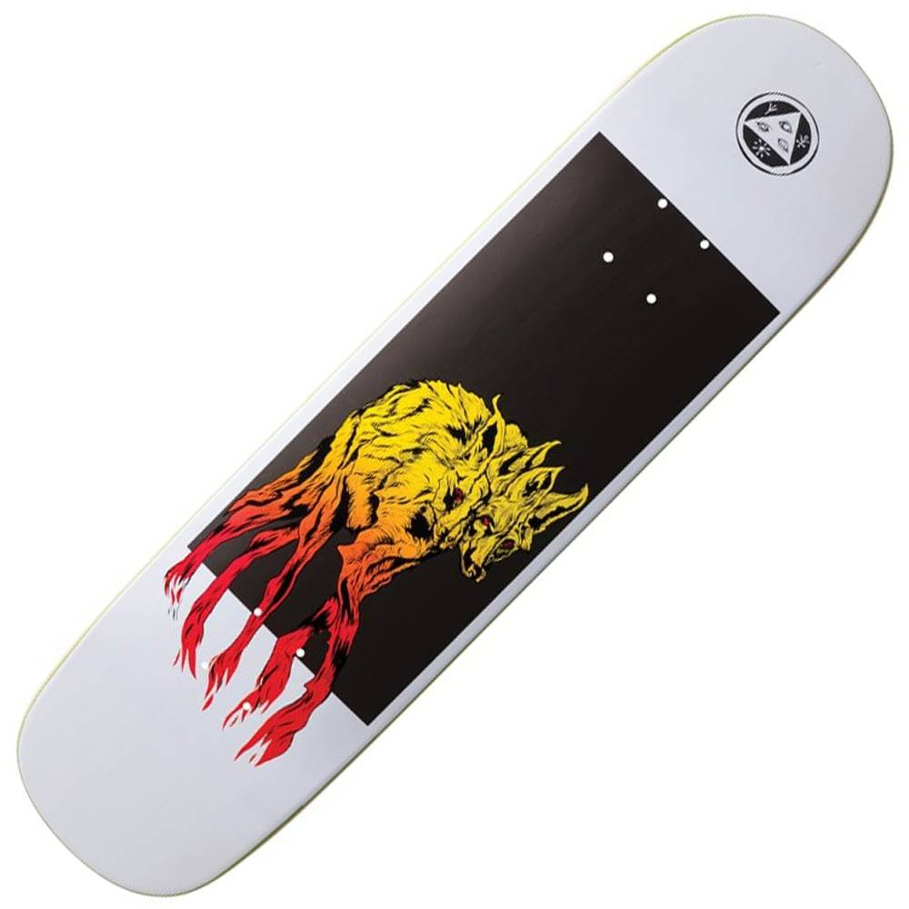 Welcome Skateboards Maned Woof on Bunyip White 8.0""