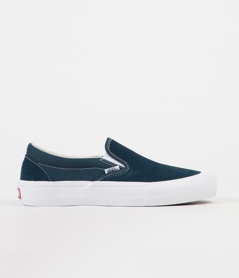 Vans Shoes Slip On Pro Toe-Cap Reflect Blue