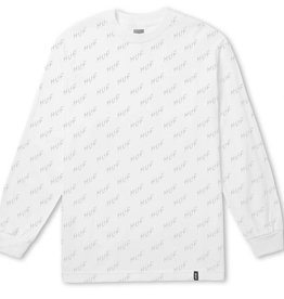 HUF Bolt All-Over L/S Tee White