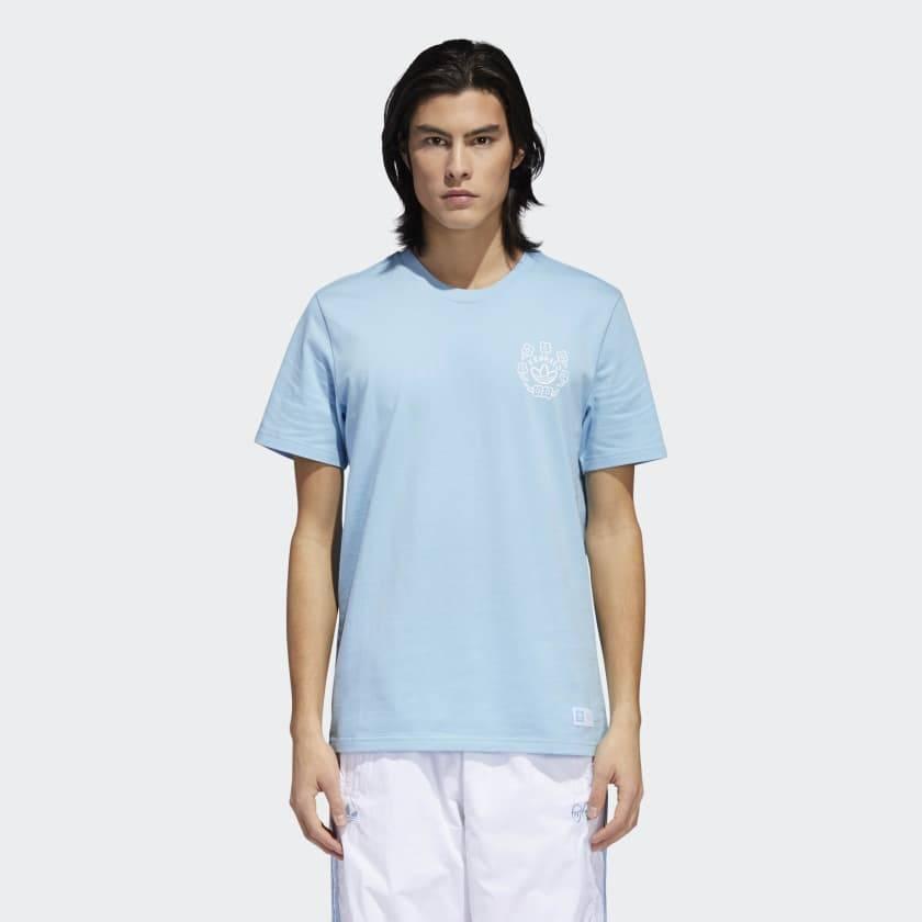 Adidas Adidas x Krooked Tee Carolina Blue