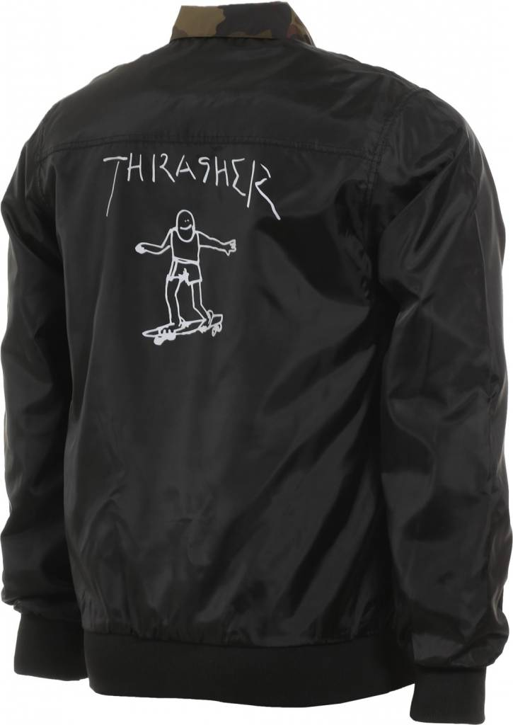 Thrasher Mag. Gonz Reversible Coaches Jacket Blk/Camo
