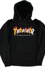 Thrasher Mag. Flame Mag Hood Black