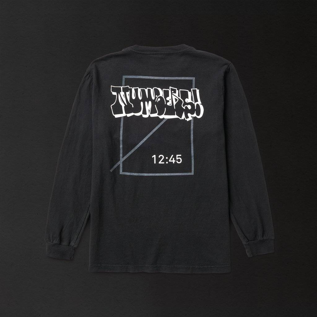 Numbers Edition Bombed Logotype L/S Black