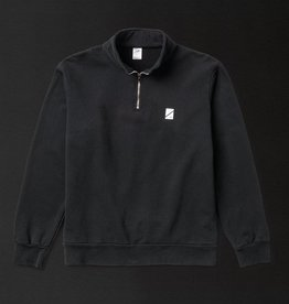 Numbers Edition Wordmark Quarter Zip Black
