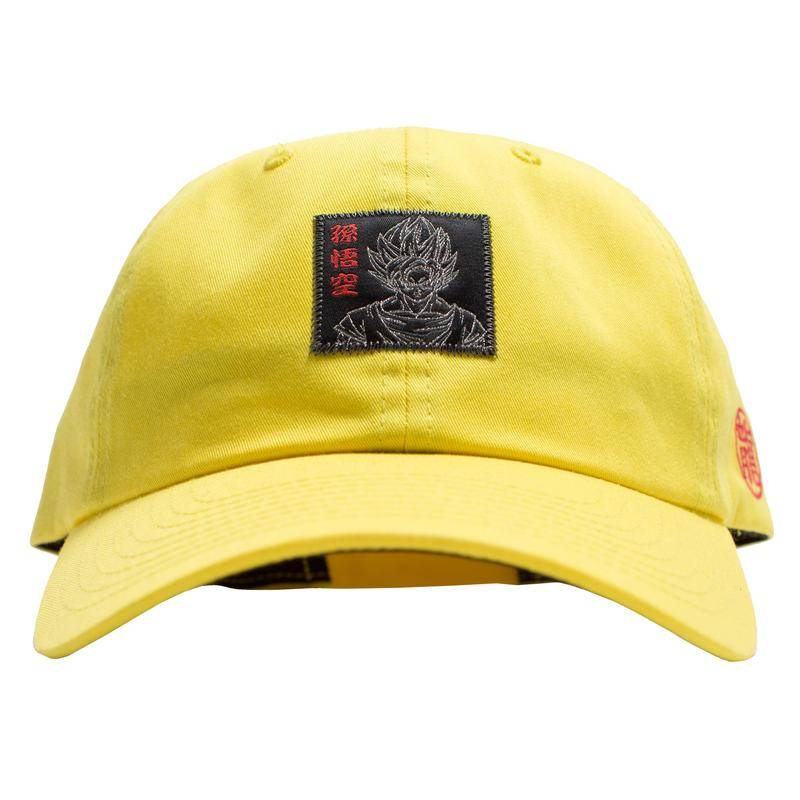 Primitive DBZ Goku Reflective Dad Hat Yellow