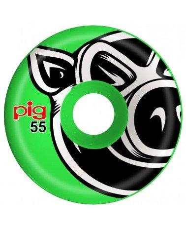 Pig Wheels Pig Head Green C-Line 55mm