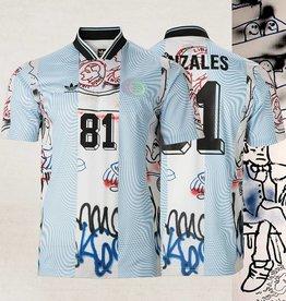 2a7c7c223b6f4a Adidas Gonzales Jersey White Light Blue