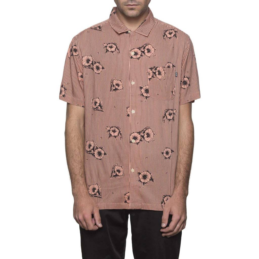 HUF Delsur Button-Up Coral Haze