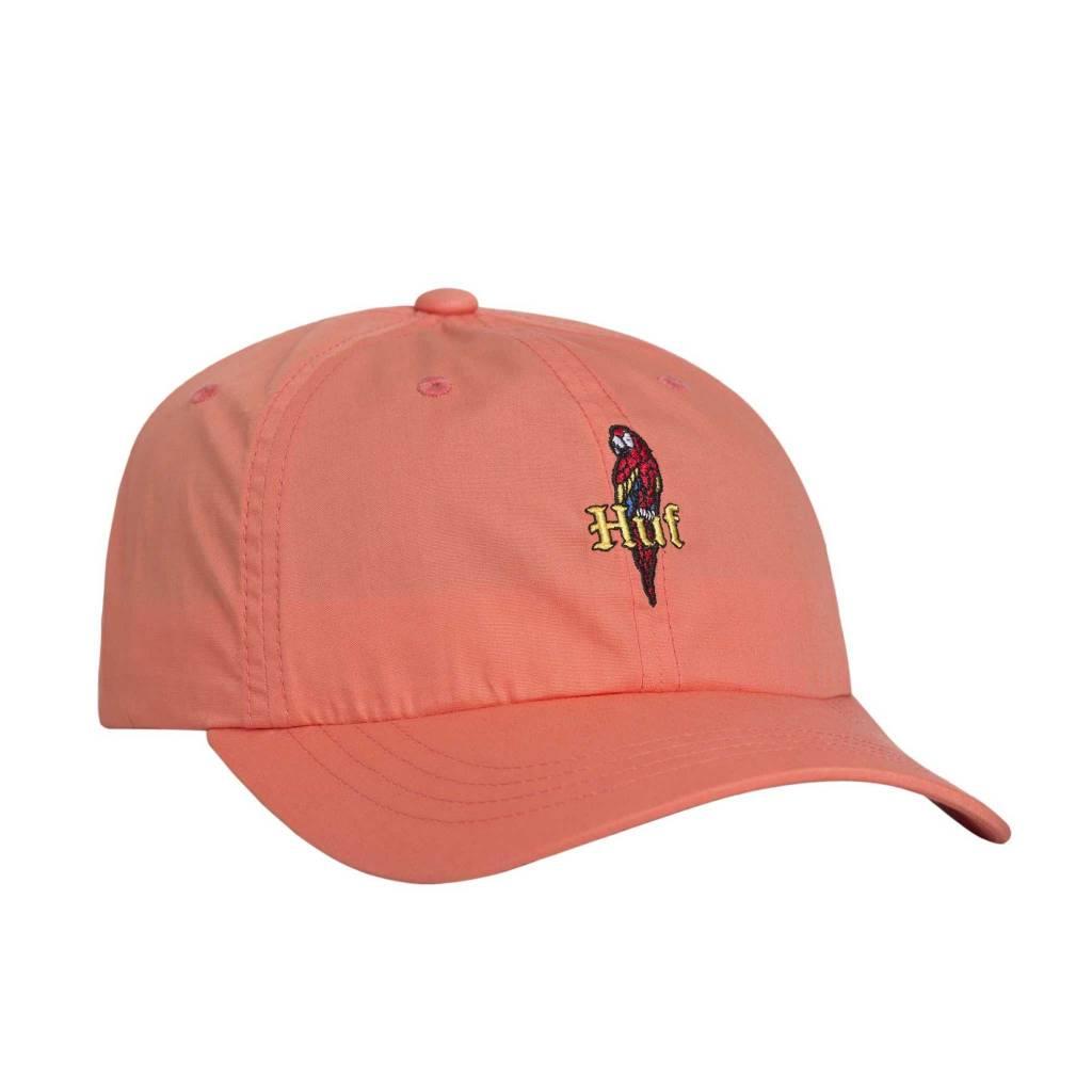 HUF Parrot Curved Visor Hat Coral