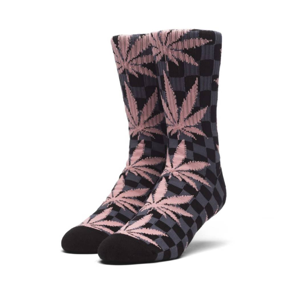 HUF Checkered Plantlife Socks Black