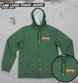 Thrasher Mag. Flame Logo Coach Jacket Forrest