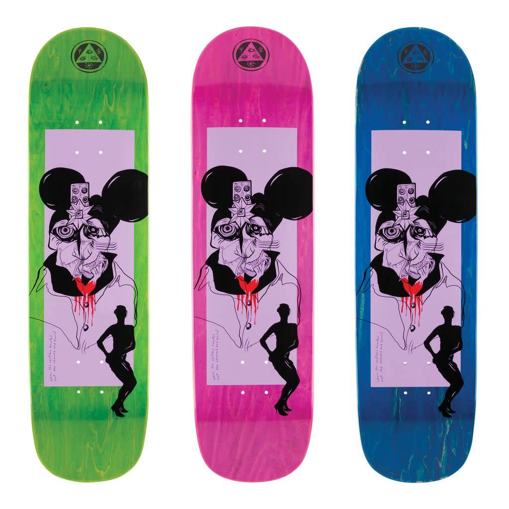 "Welcome Skateboards Slave 2 Blood on Big Bunyip Lavender/Various 8.5"""