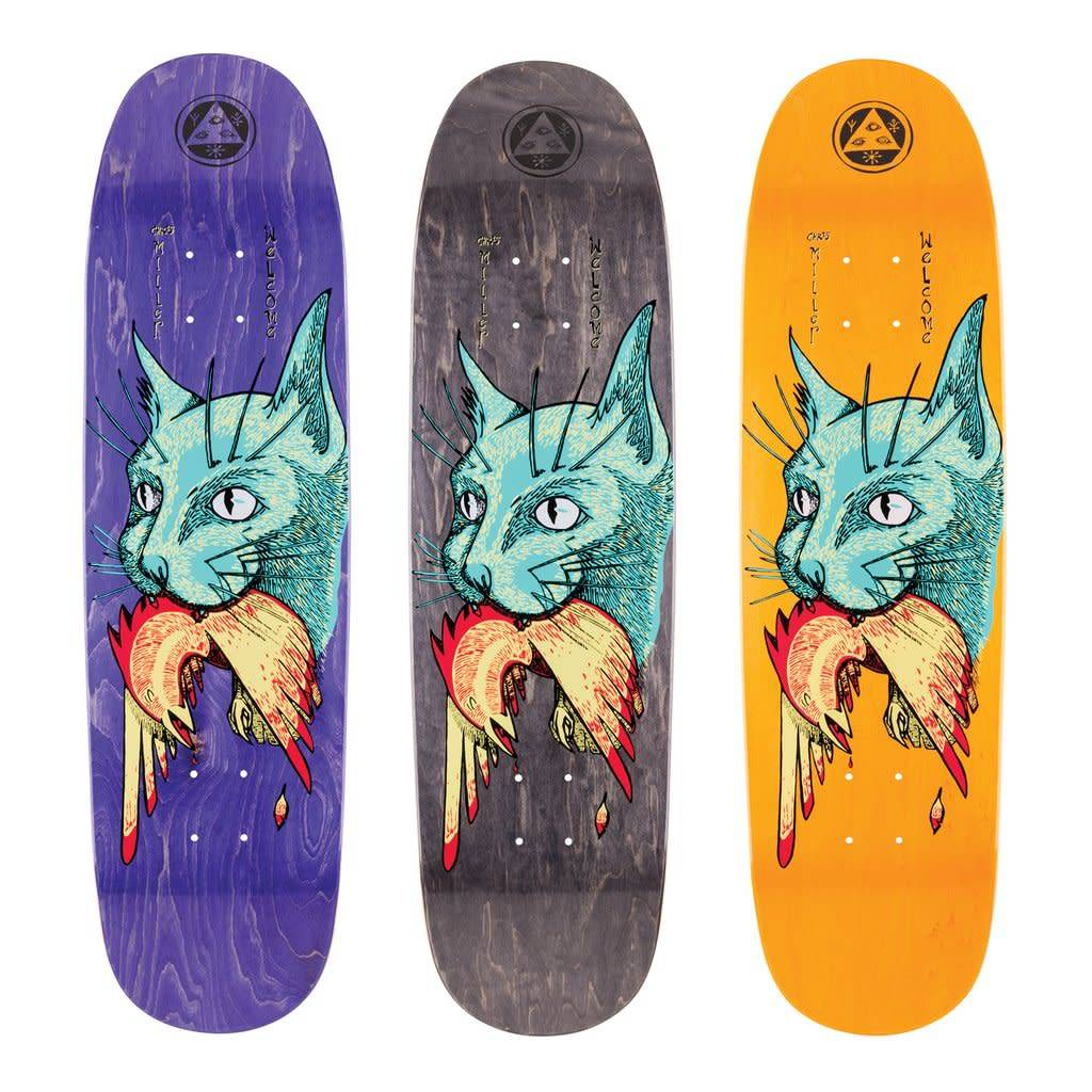 Welcome Skateboards Miller Cat Gets Bird on Catblood 2.0 Various 8.75""