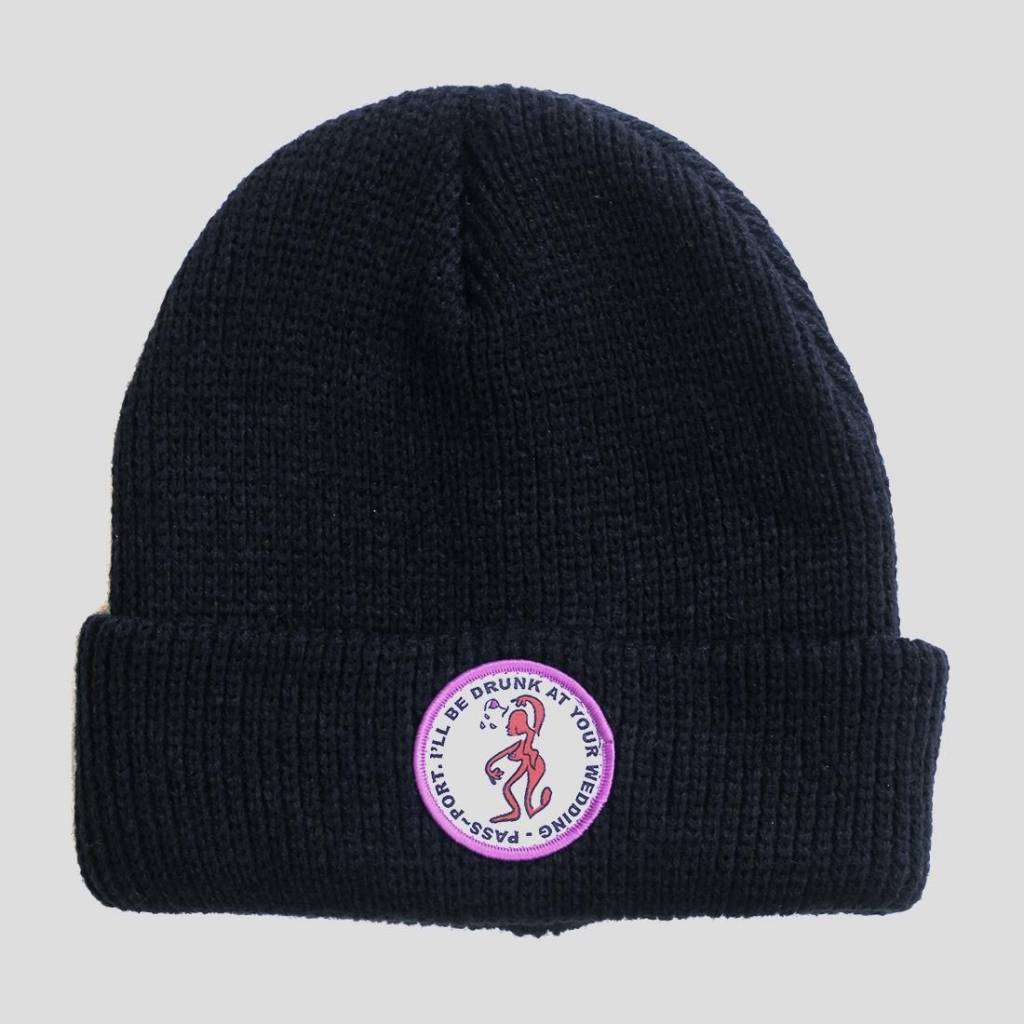 Pass~Port Drunk At Your Wedding Beanie Black