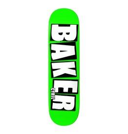 "Baker Skateboards Brand Name Neon Green CJ 8.25"""