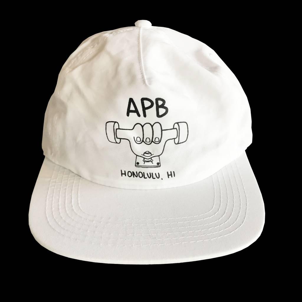 APB Skateshop APB Truckah Hat White