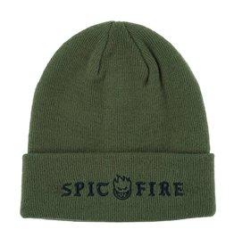 Spitfire Wheels Straight Rockin Olive Cuff Beanie