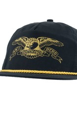 Anti Hero Basic Eagle Black/Gold Snapback