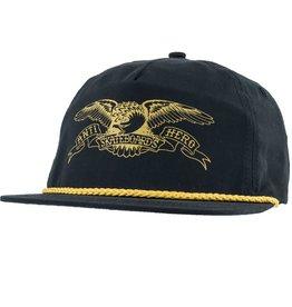 Anti Hero Basic Eagle Black/Gold Snapback